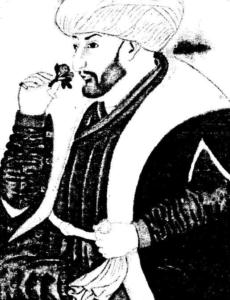 Портрет на Мехмед II Фатих от Синаи бей. миниатюра, XV в.